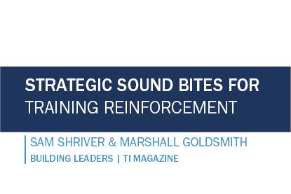 Strategic Sound Bites for Training Reinforcement