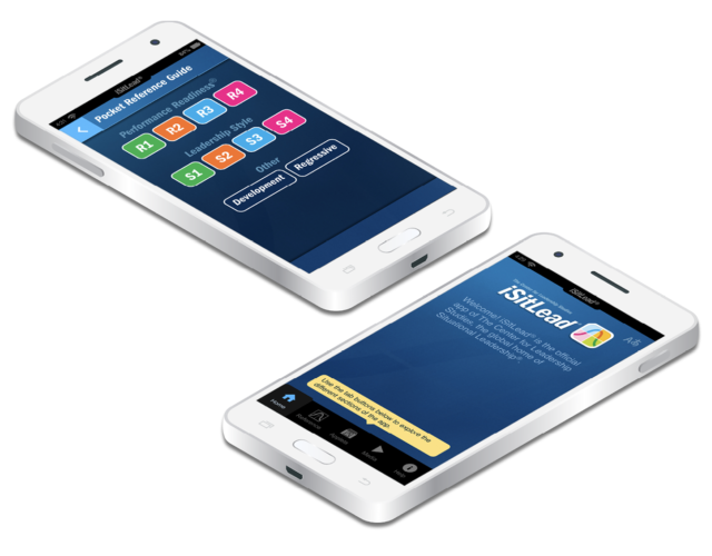 iSitLead® application on two iPhone screens